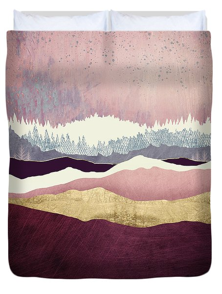 Raspberry Hills Duvet Cover