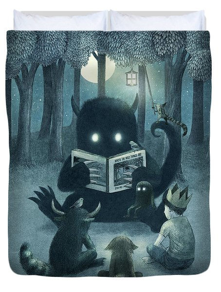Reading Circle Duvet Cover