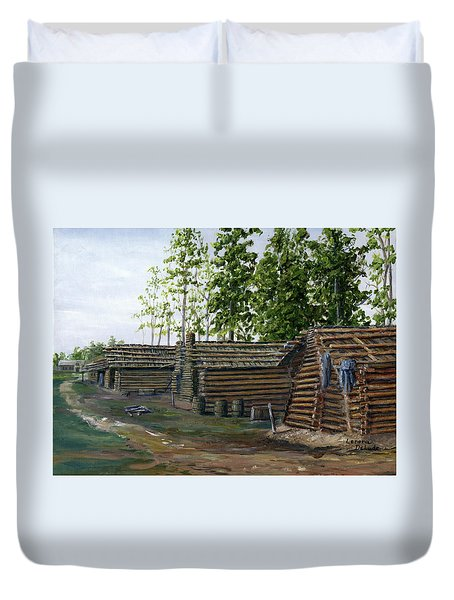 Rebel Huts, Port Hudson, Louisiana 1863 Duvet Cover