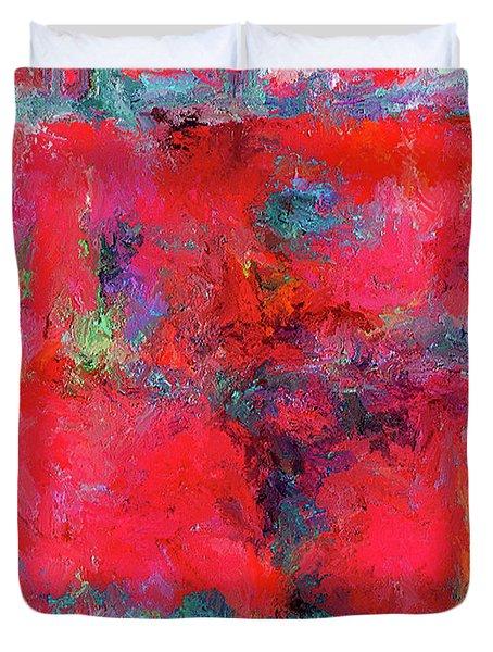 Rectangular Red Duvet Cover