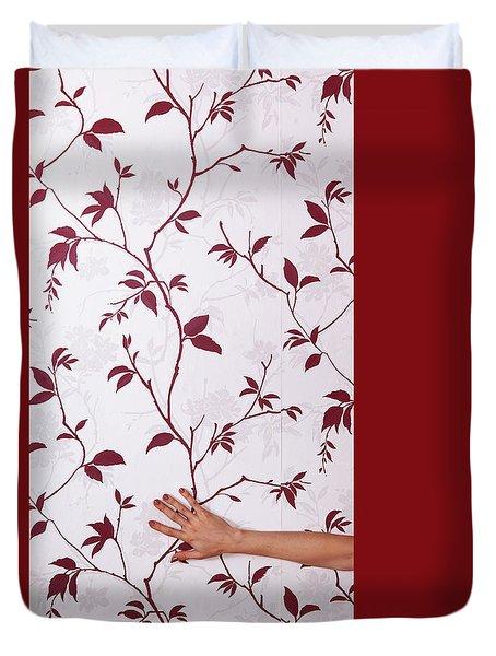 Red #0586 Duvet Cover