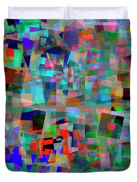Duvet Cover featuring the digital art Red Alert by Edmund Nagele