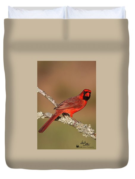 Red And Radiant Duvet Cover