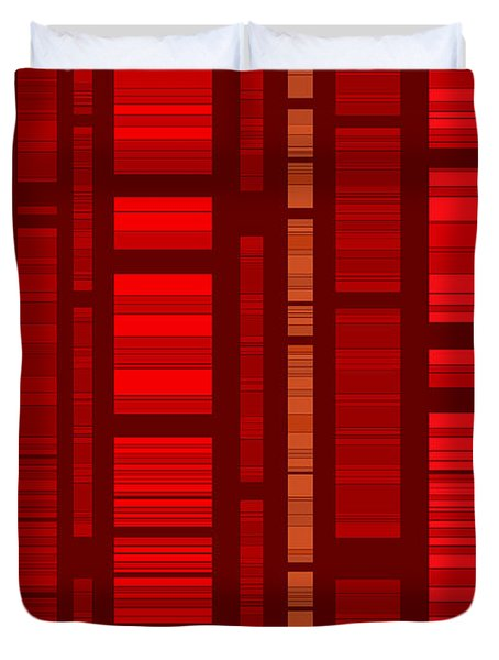 Red Bamboo Duvet Cover