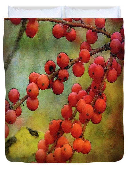 Red Berries 5573 Idp_2 Duvet Cover