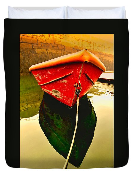 Red Boat Duvet Cover