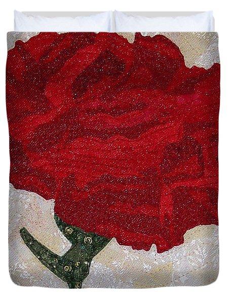 Red Carnation Duvet Cover