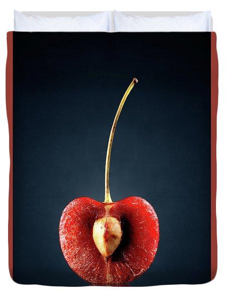 Red Cherry Still Life Duvet Cover