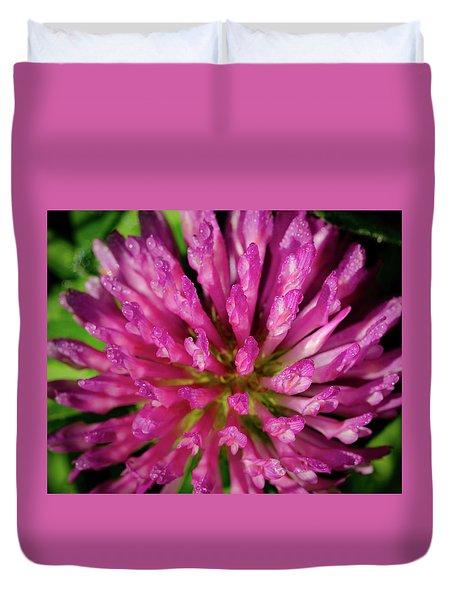 Red Clover Flower Duvet Cover