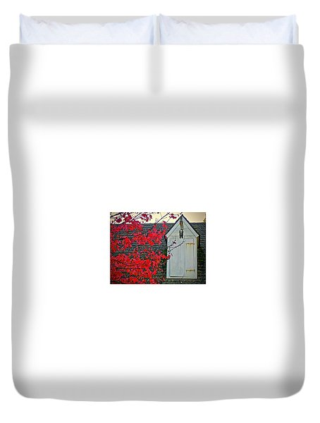 Duvet Cover featuring the photograph Red... by Don Moore