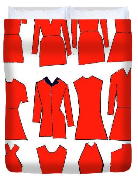 Red Dresses Duvet Cover