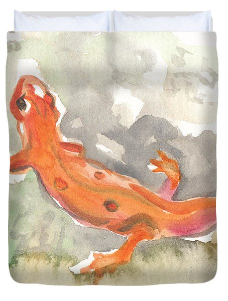 Red Eft Duvet Cover