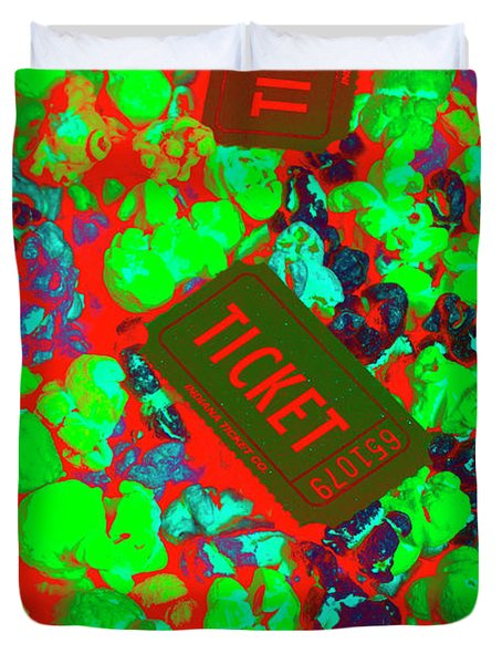 Red Hot Tickets Duvet Cover