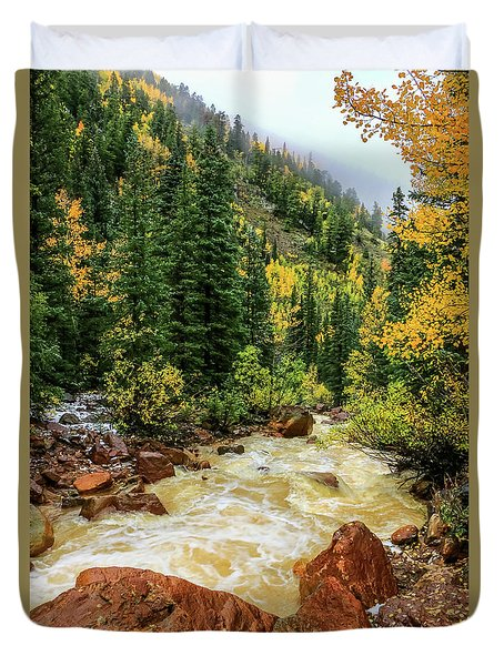 Red Mountain Creek In San Juan Mountains Duvet Cover