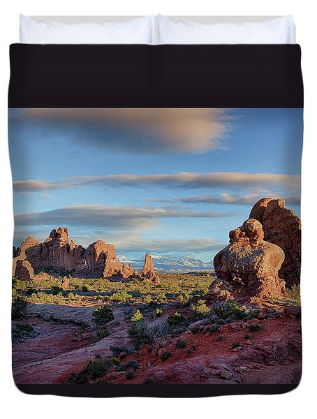 Red Rock Formations Arches National Park  Duvet Cover