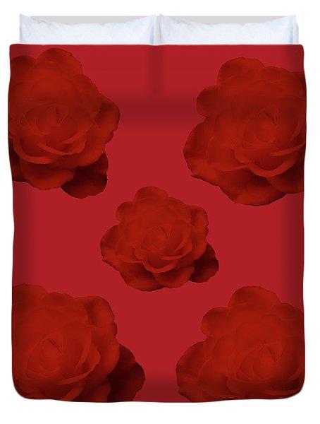 Red Roses Art Design Duvet Cover