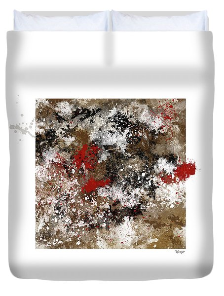 Red Splashes Duvet Cover