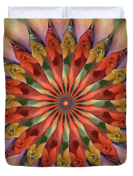 Red Velvet Quillineum Duvet Cover