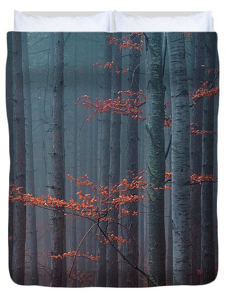 Red Wood Duvet Cover