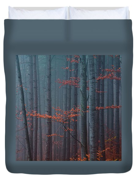 Red Wood Duvet Cover