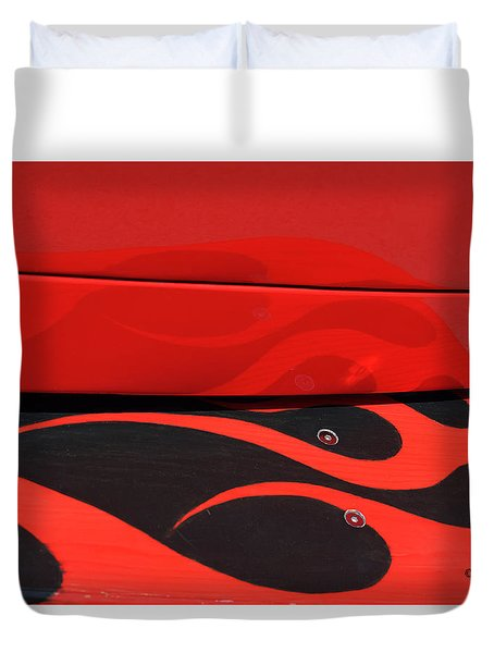Reflctions At The Car Show 4 Duvet Cover