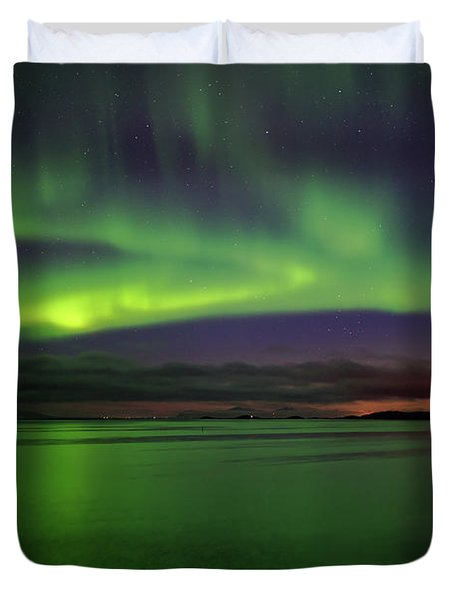 Reflected Aurora Duvet Cover