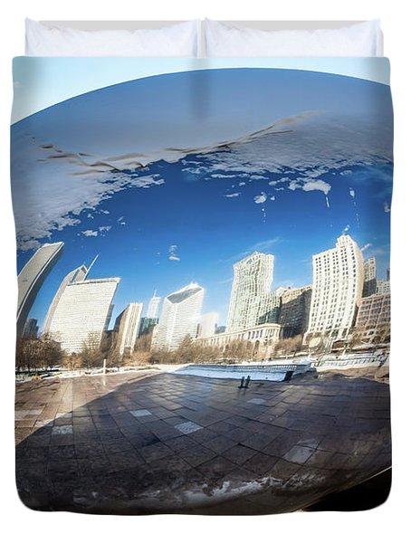 Reflecting Bean Duvet Cover