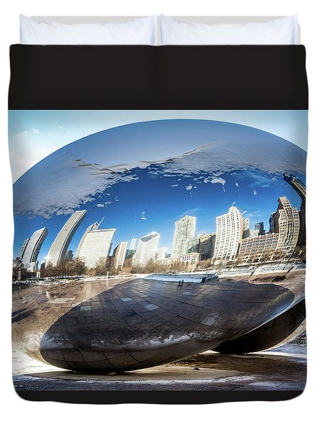 Reflecting Bean Duvet Cover