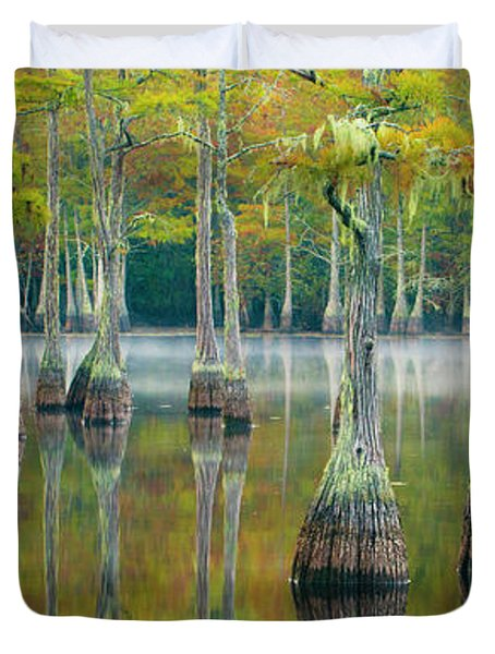 Reflection Of Bald Cypress Taxodium Duvet Cover