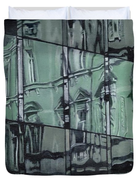 Reflection On Modern Architecture Duvet Cover