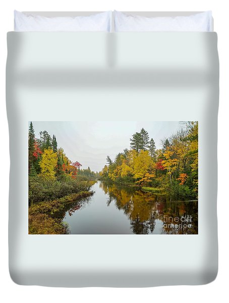 Reflections In Autumn Duvet Cover