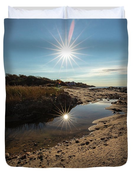 Reflections Of Autumn At The Beach Duvet Cover
