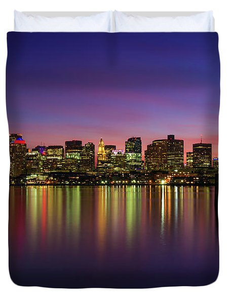 Reflections Of Boston II Duvet Cover