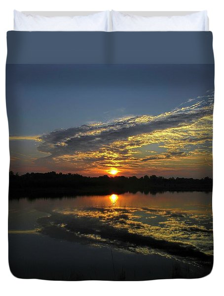 Reflections Of The Passing Day Duvet Cover