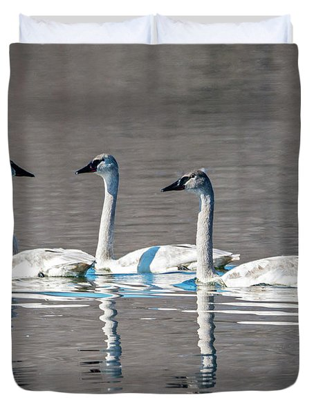 Reflections Of Three Duvet Cover