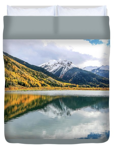 Reflections On Crystal Lake 1 Duvet Cover