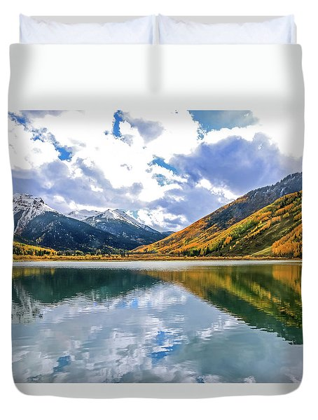 Reflections On Crystal Lake 2 Duvet Cover
