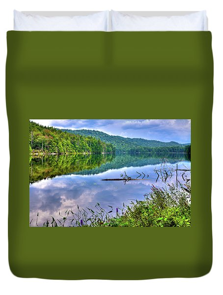 Duvet Cover featuring the photograph Reflections On Sis Lake by David Patterson