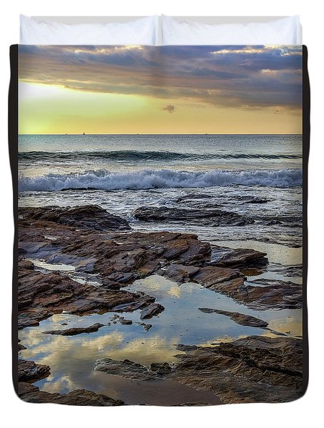 Reflections On The Rocks Duvet Cover
