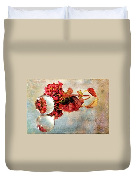 Duvet Cover featuring the photograph Reflective Mood by Randi Grace Nilsberg