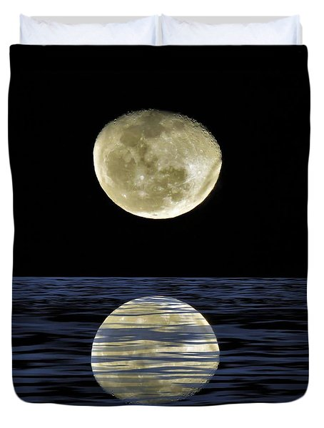Reflective Moon Duvet Cover