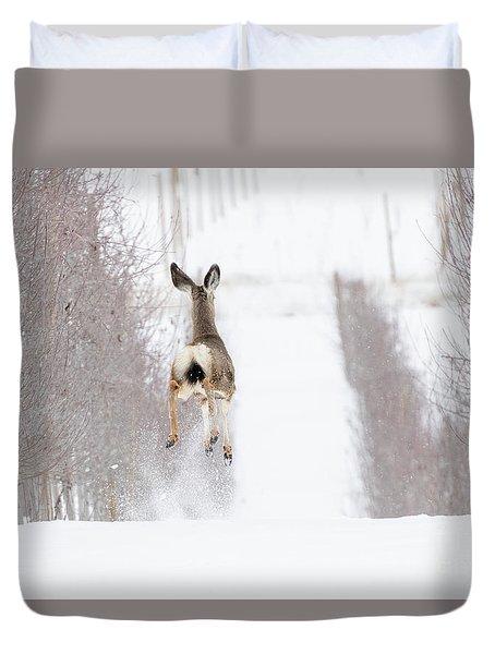 Reindeer In Training Duvet Cover