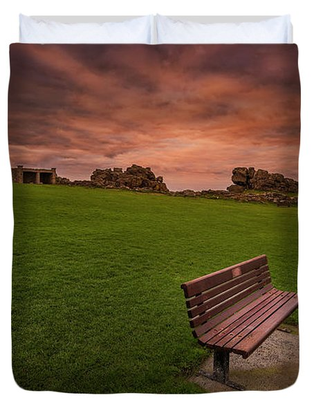 Relaxing At St Ives Cornwall Duvet Cover