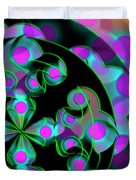 Duvet Cover featuring the digital art Religion by Vitaly Mishurovsky