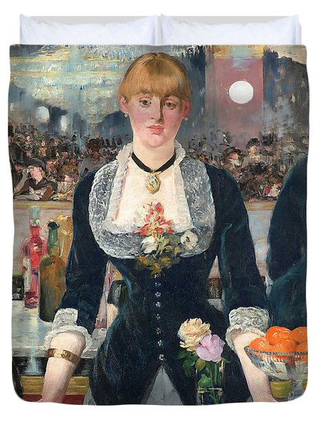 Remastered Art A Bar At The Den Folies Bergere By Edouard Manet 20190309 Duvet Cover