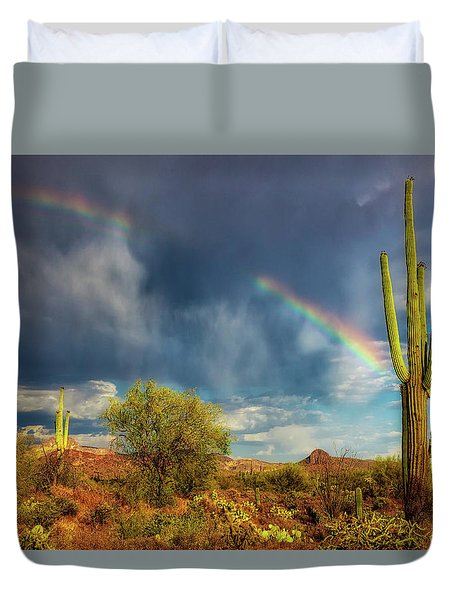 Duvet Cover featuring the photograph Respite From The Storm by Rick Furmanek