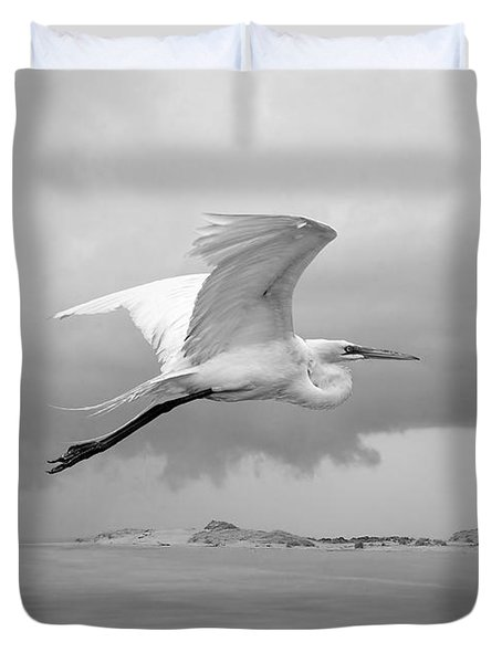 Retreat From Coming Storm Duvet Cover