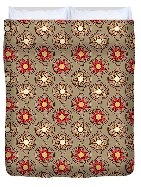 Retro Sunshine Pattern Duvet Cover