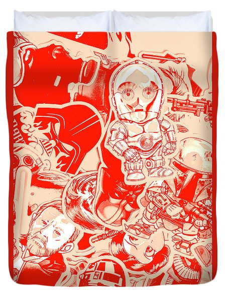 Retro Wars Duvet Cover