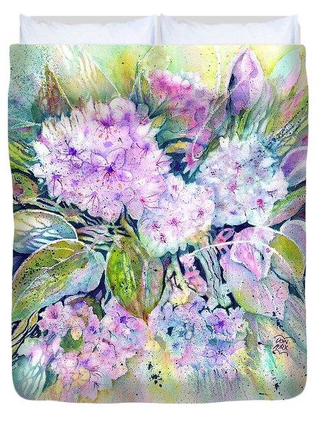 Rhododendron Spring Garden Duvet Cover
